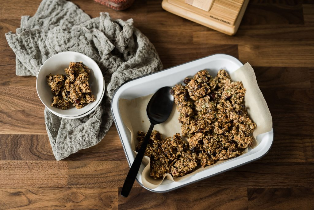 Homemade Granola with NutriMill Harvest grain Mill
