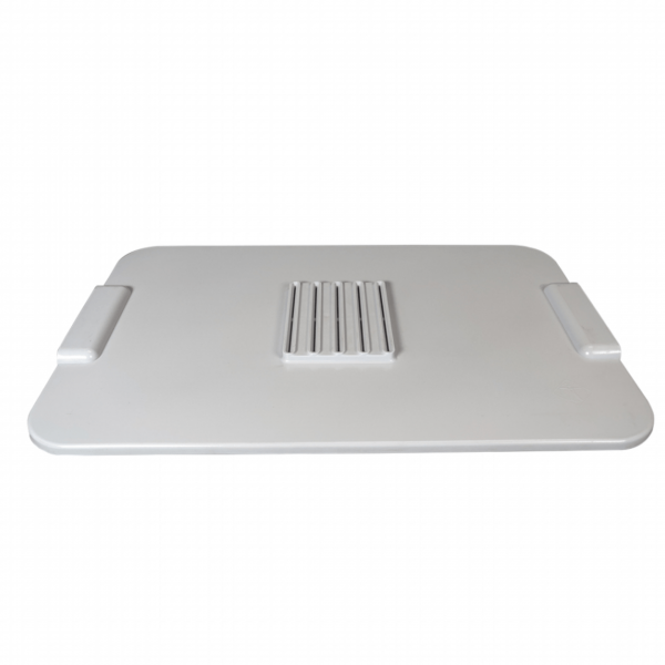 Grey Plastic Replacement Lid with vents for the FilterPro Dehydrator.