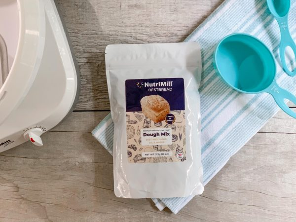 Best Bread dough mix on counter with mixer