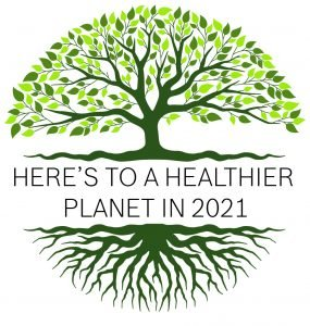 Healthy Planet Logo of a tree with roots